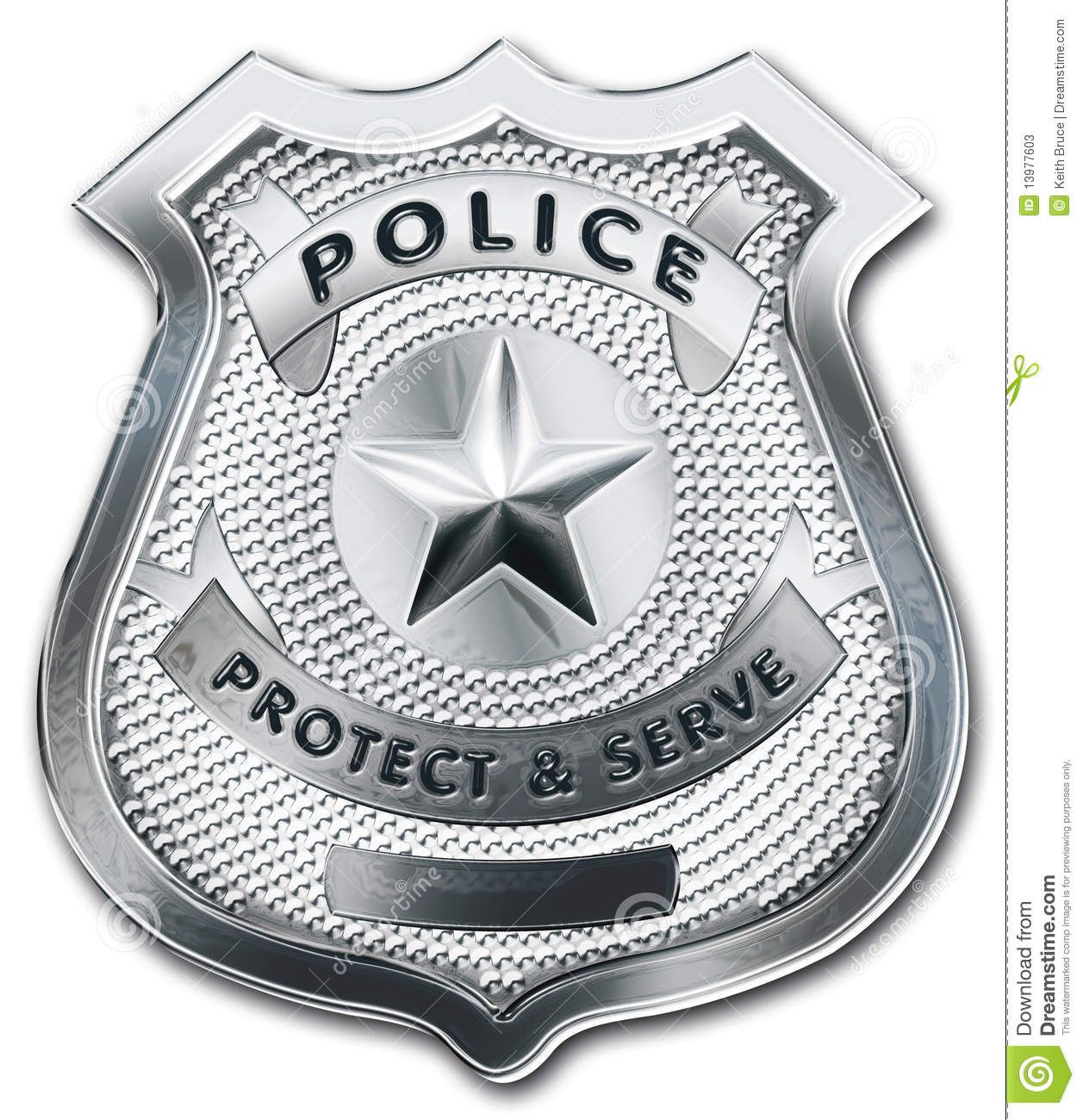 The police badge was the prop that symbolized good and bad.
