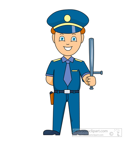 People clip art police officer with a dog and a police officer.
