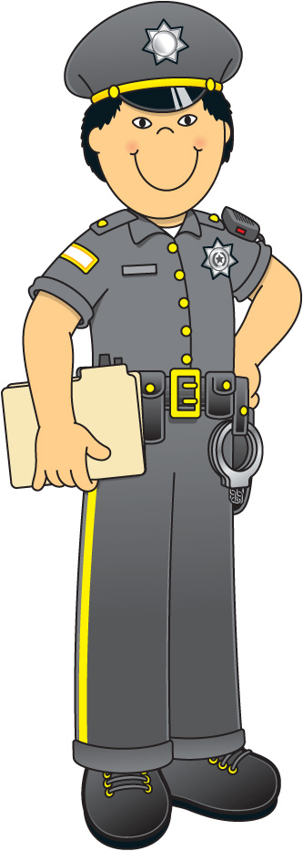 Indian police officer clipart.