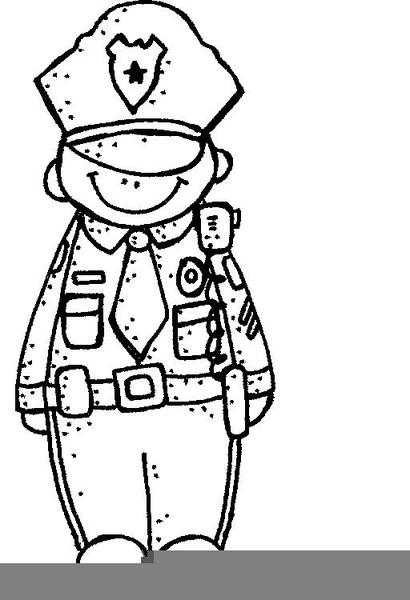 Police Officer Clipart Black And White.