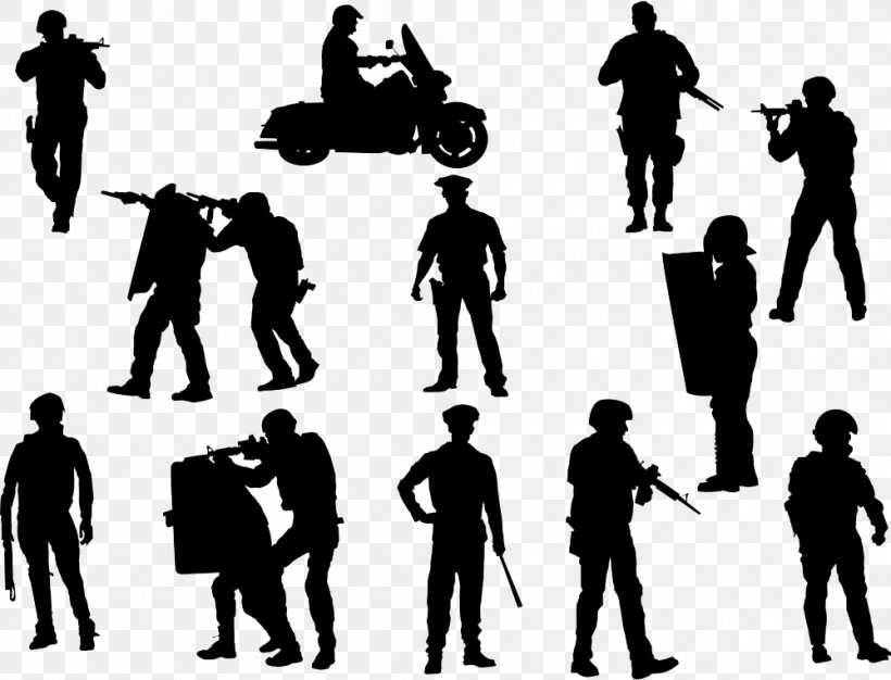 Police Officer Silhouette Illustration, PNG, 1000x764px.