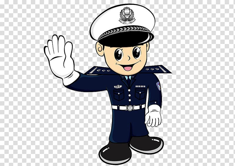 Security guard illustration, Police officer Traffic police.