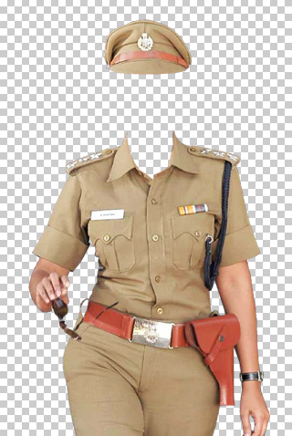 Police woman frame png.
