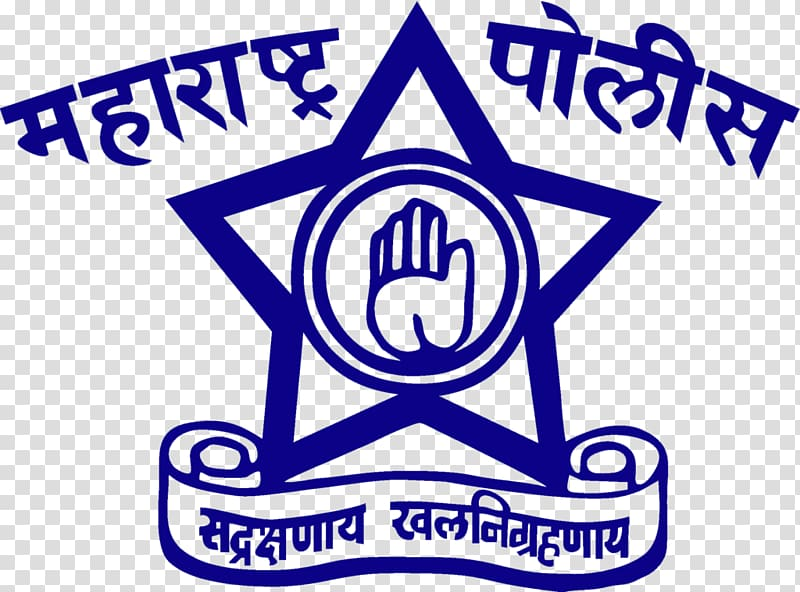 Blue star logo illustration, Maharashtra Police Constable.