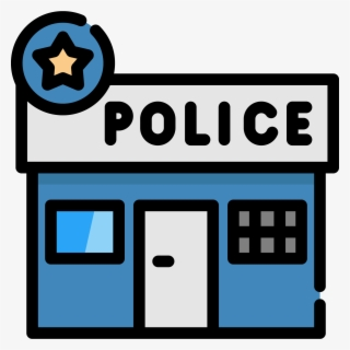 Free Police Station Clip Art with No Background.