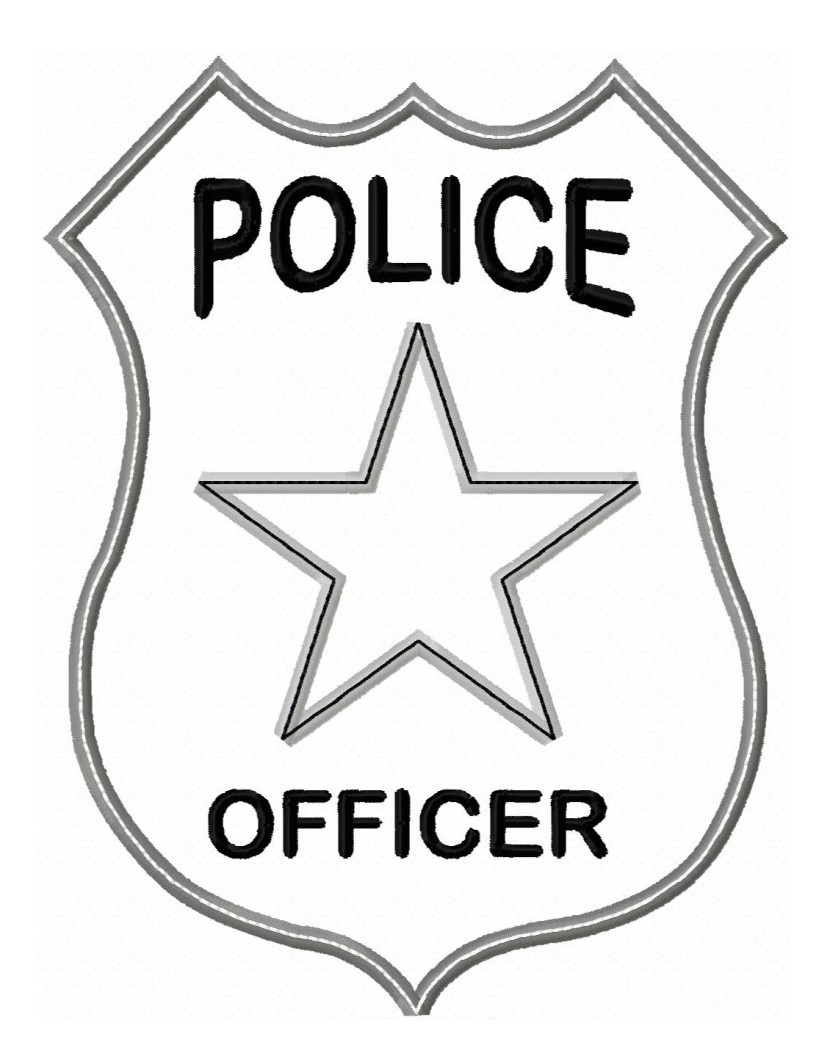 Blue Police Shield Clipart.