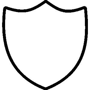 Police Badge Outline Clip Art.