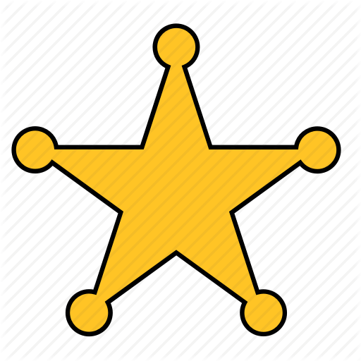 Sheriff star clipart images gallery for free download.
