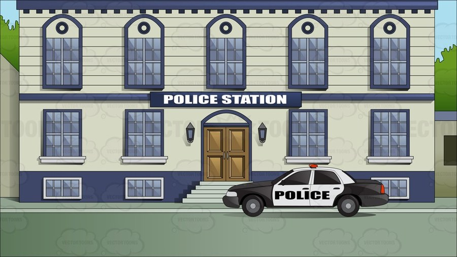 Download cartoon image of police station clipart Police Clip.