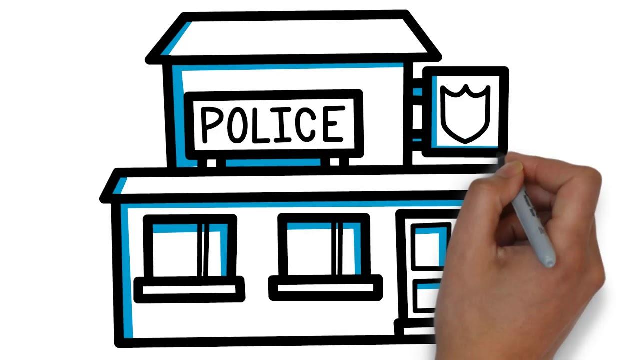 Police Building Cliparts.