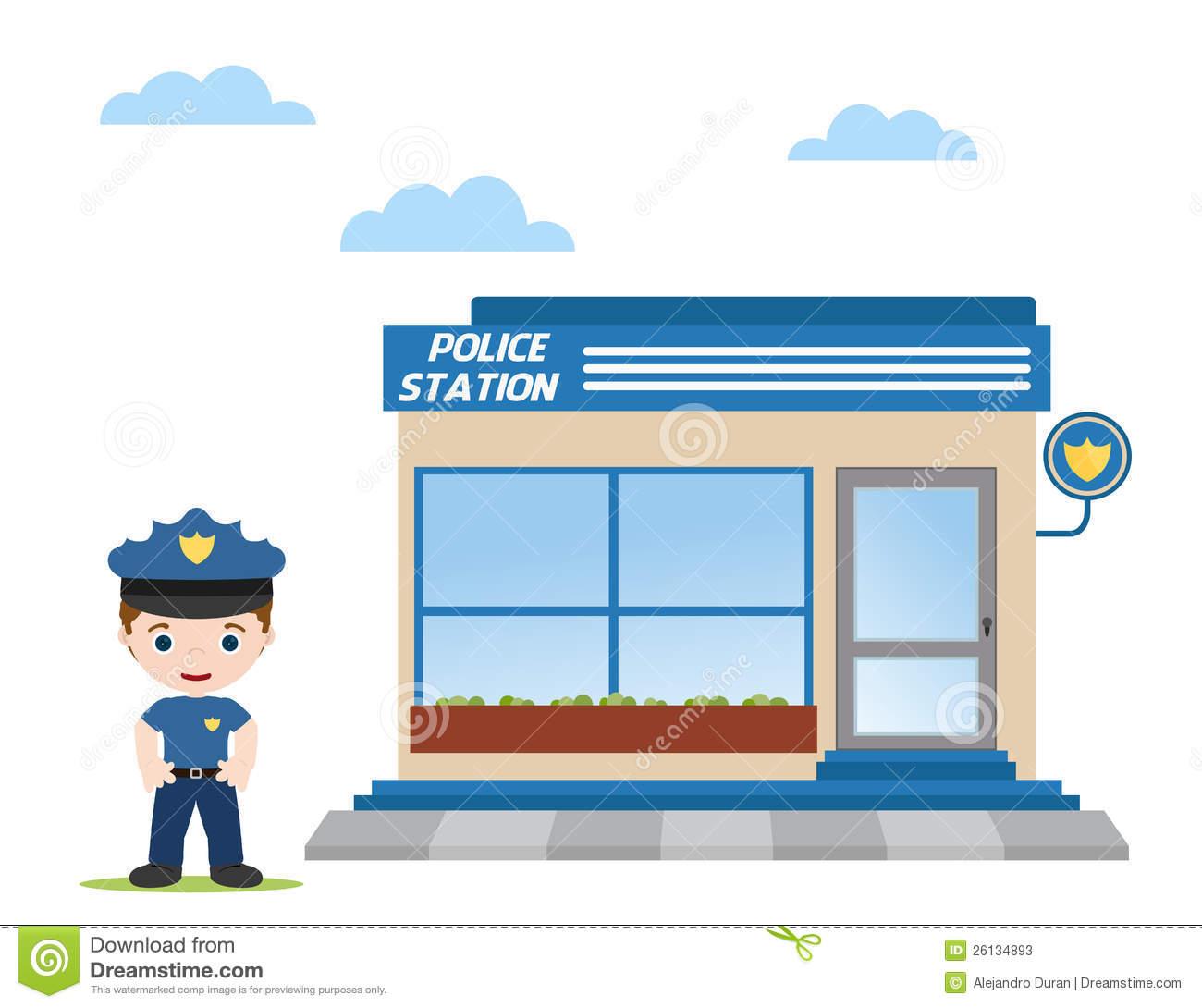 10+ Police Station Clip Art.