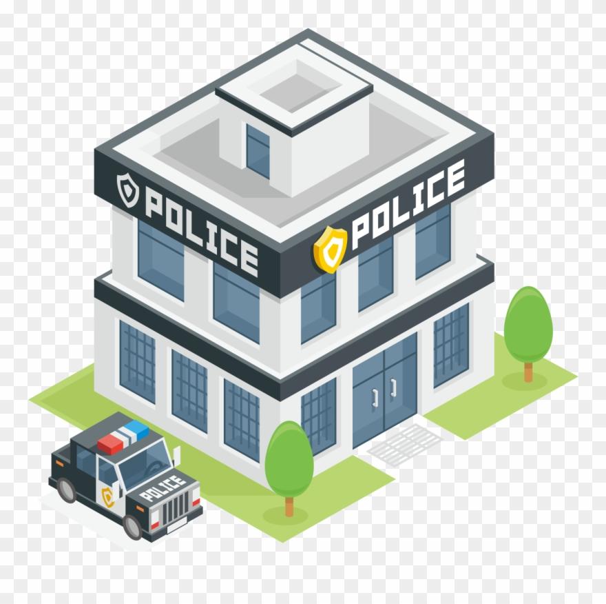 Image Freeuse Stock Police Station Officer Clip Art.