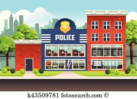 Police station Clipart Illustrations. 960 police station clip art.