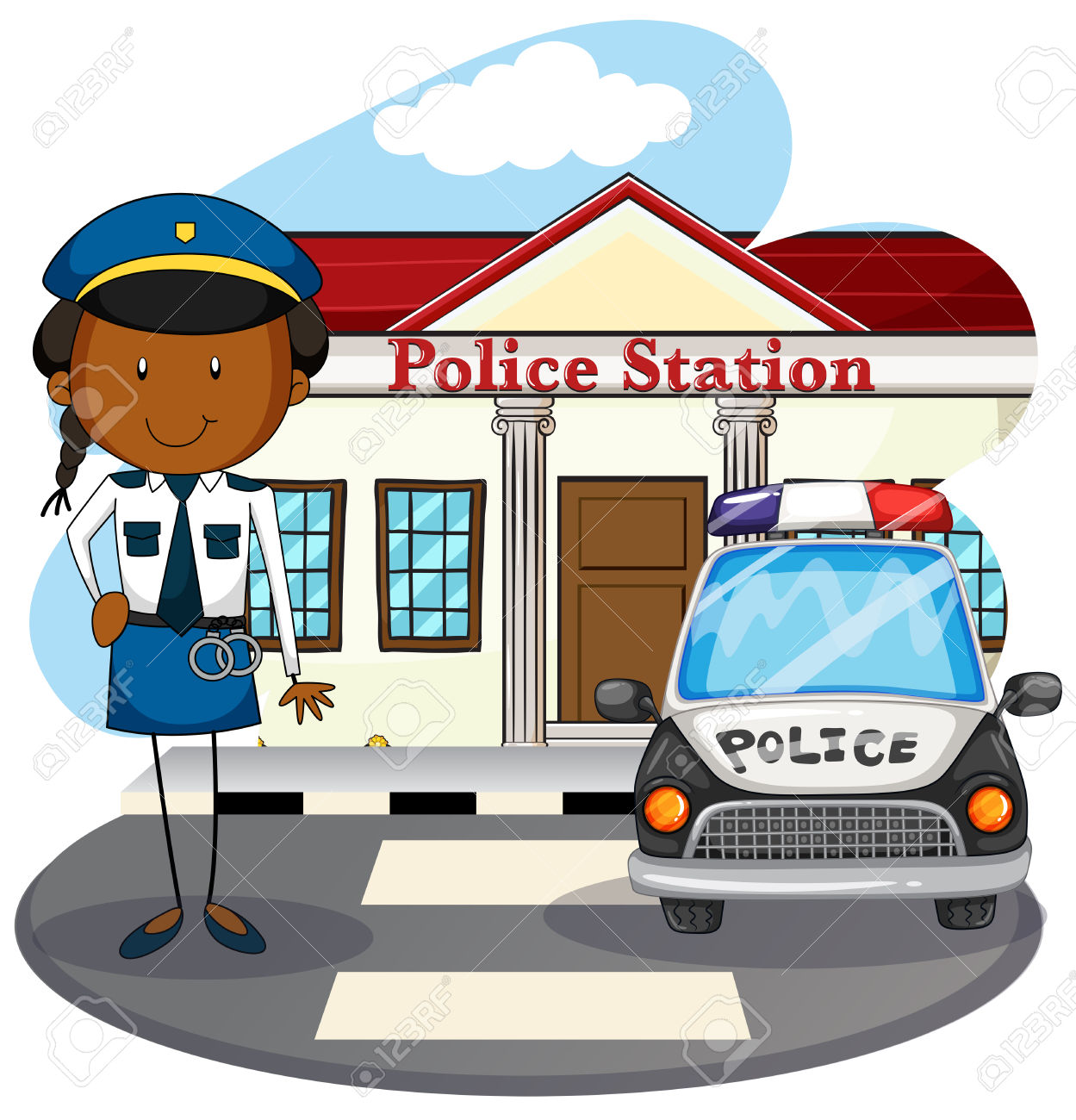Police station clipart - Clipground Police Station Building Clipart Black And White