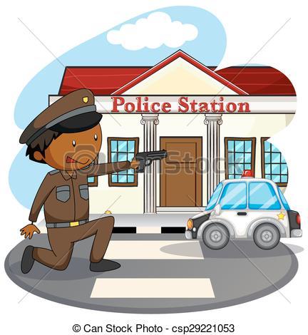 Police station Stock Illustrations. 1,283 Police station clip art.