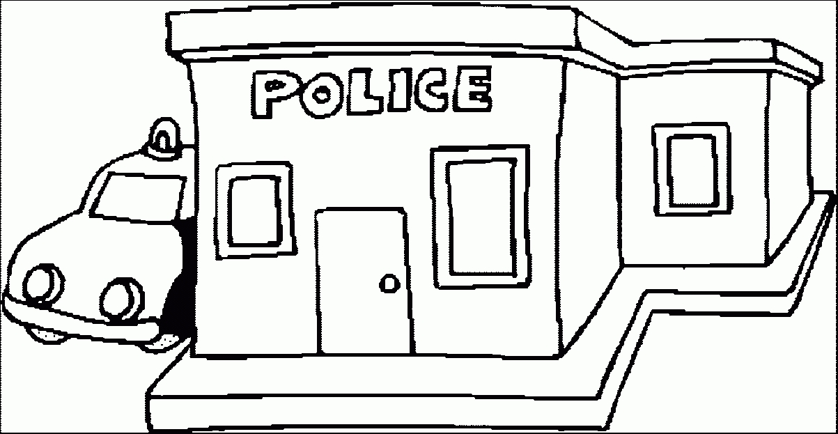 Police Station Clipart Black And White.