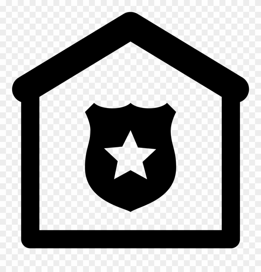 White Police Badge Png.