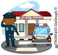 Police Station Clip Art.