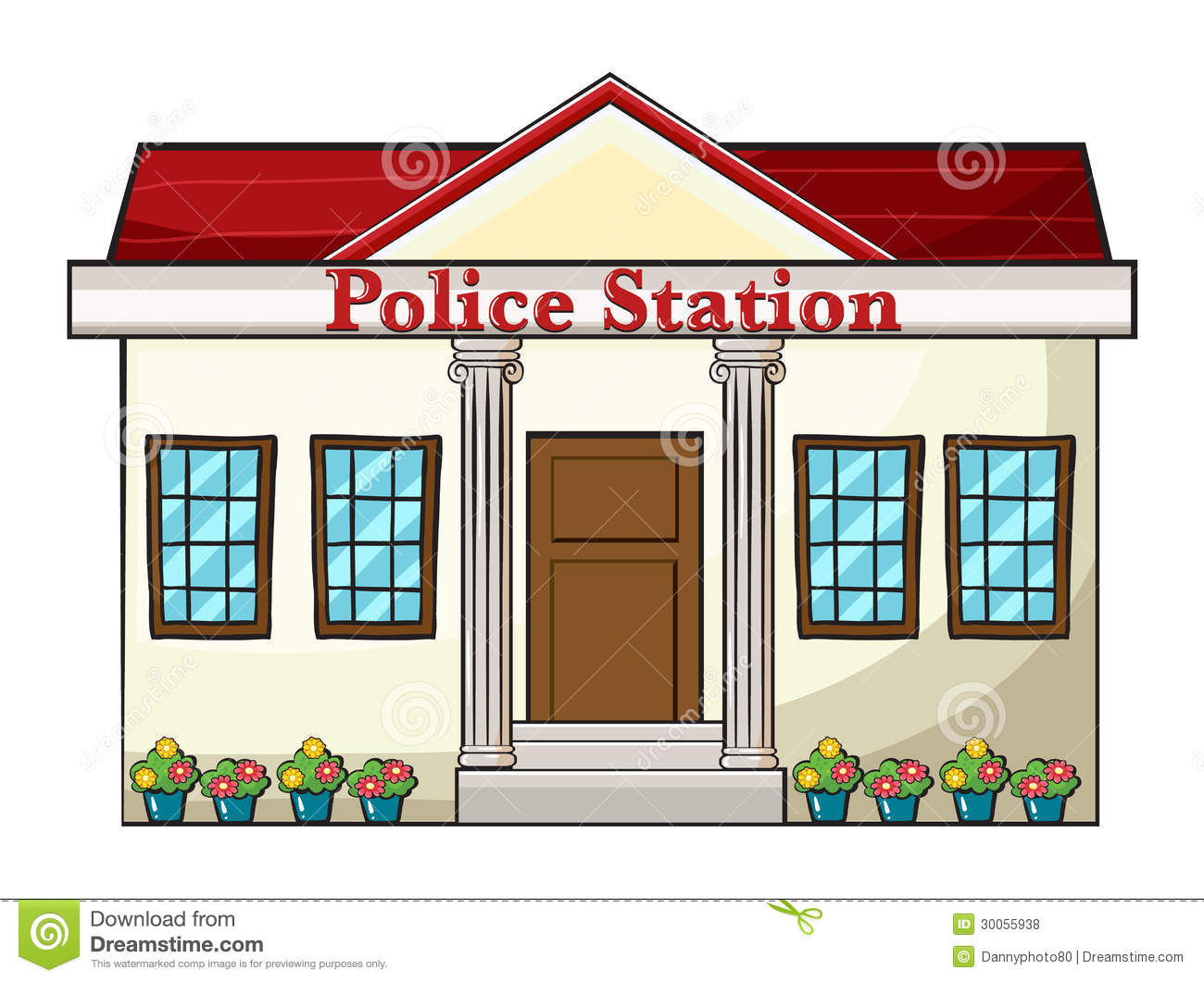 5+ Police Station Clipart.