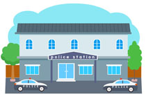 Image of Police Station Building Clipart Police Station.