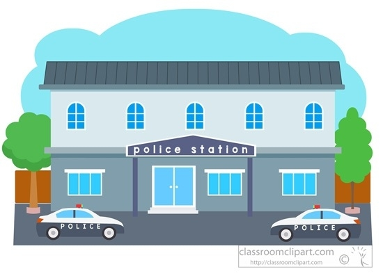 Police Station Building Clipart 2.