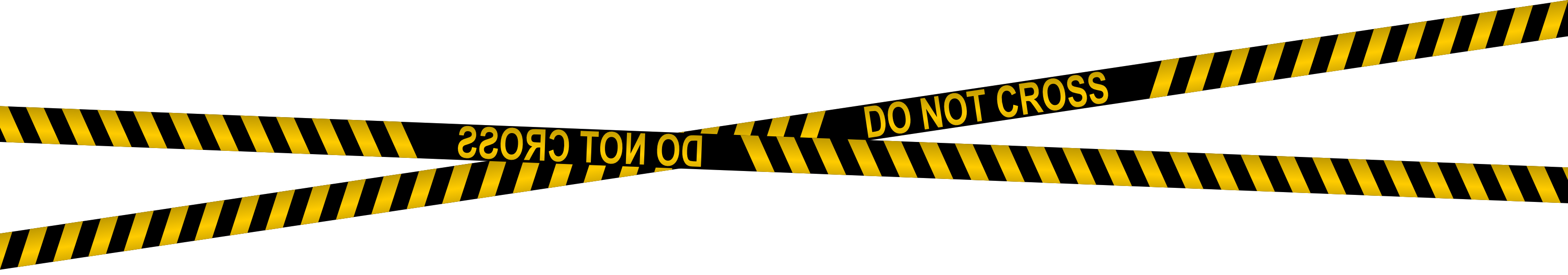 Police Line Do Not Cross Tapes (PNG Transparent).
