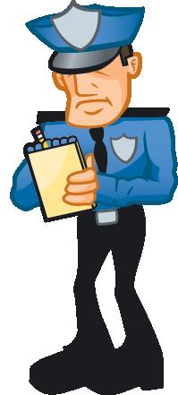 Cop Writing Ticket.