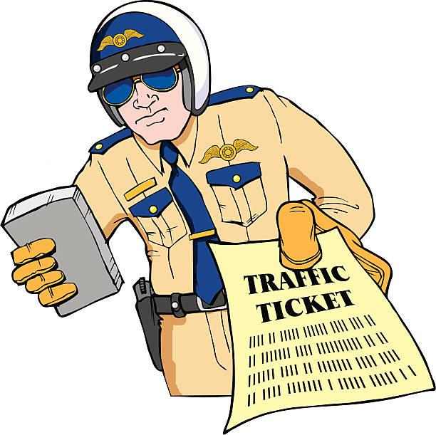 Speeding Ticket Clipart.