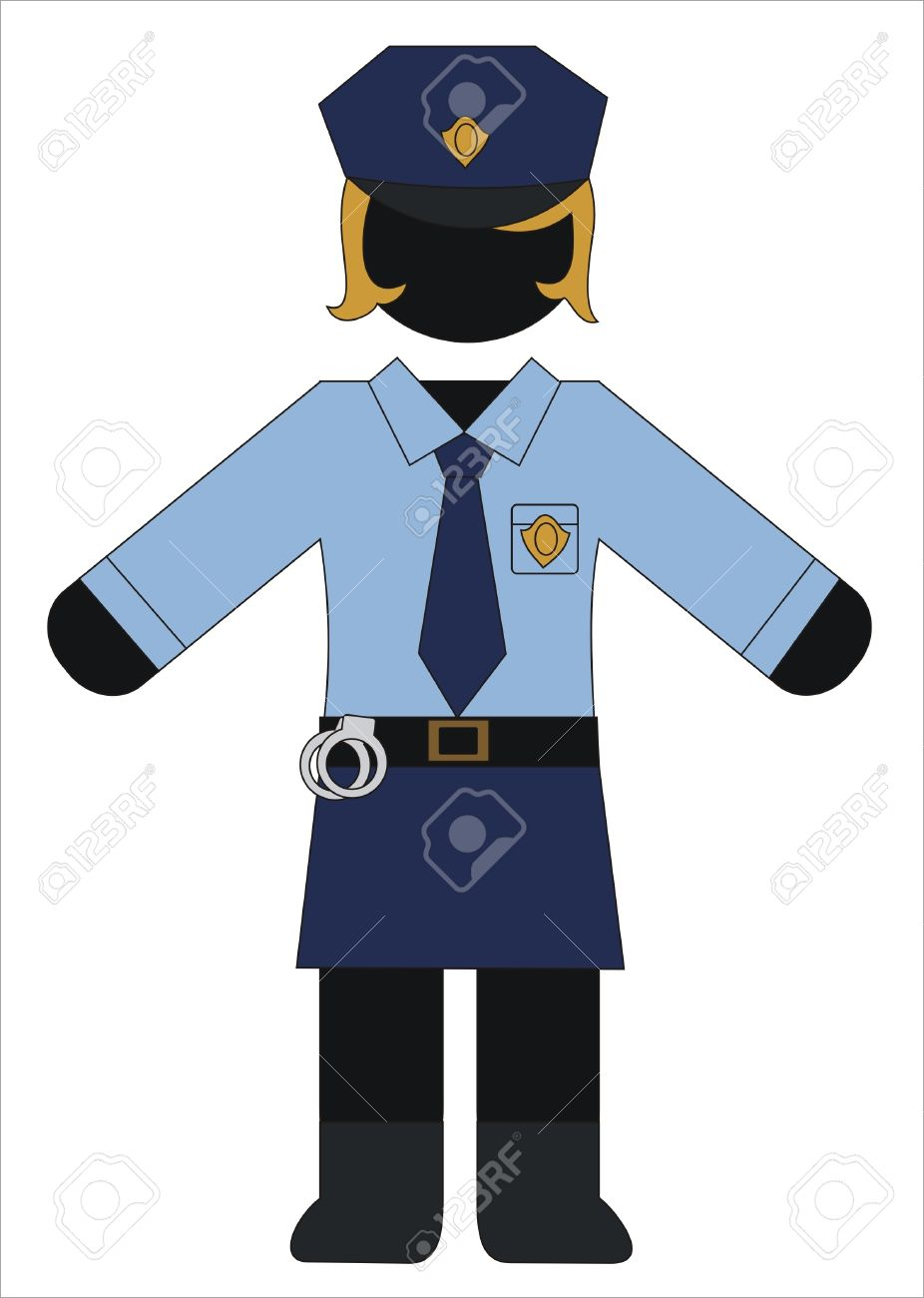 Police uniform clipart - Clipground