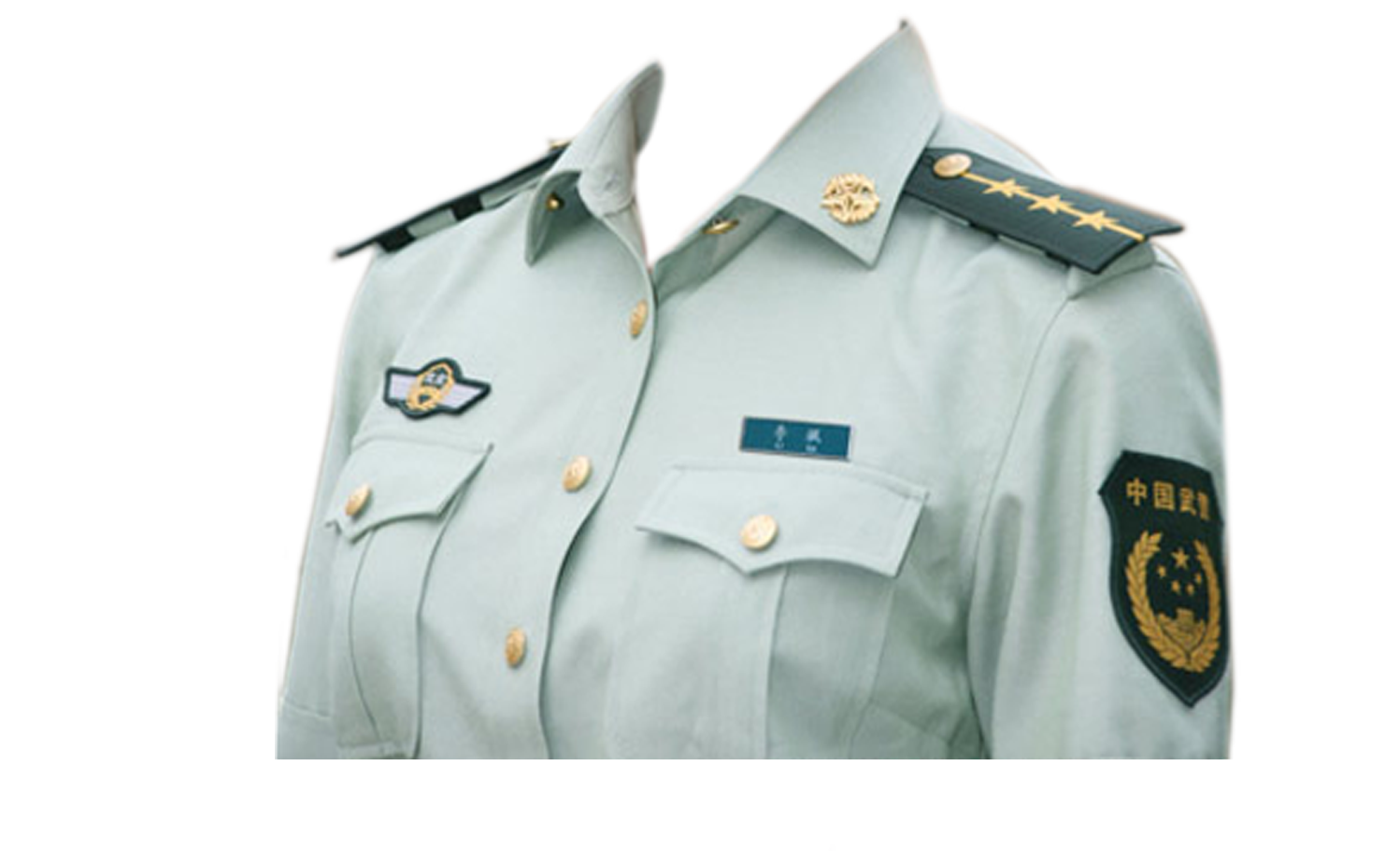 Chinese Police Uniform PNG Image.