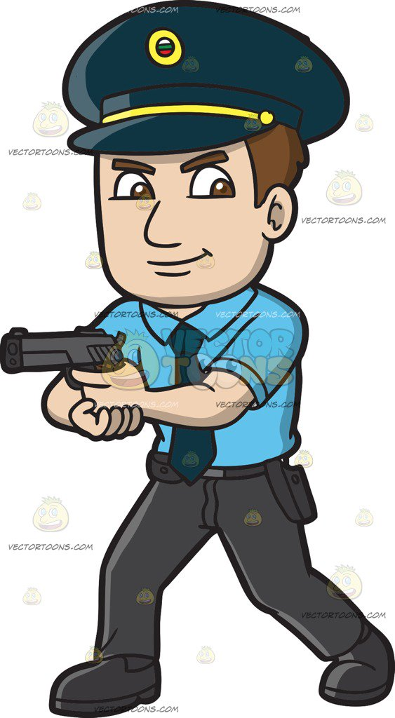 A hungarian police officer cartoon clipart vector toons.