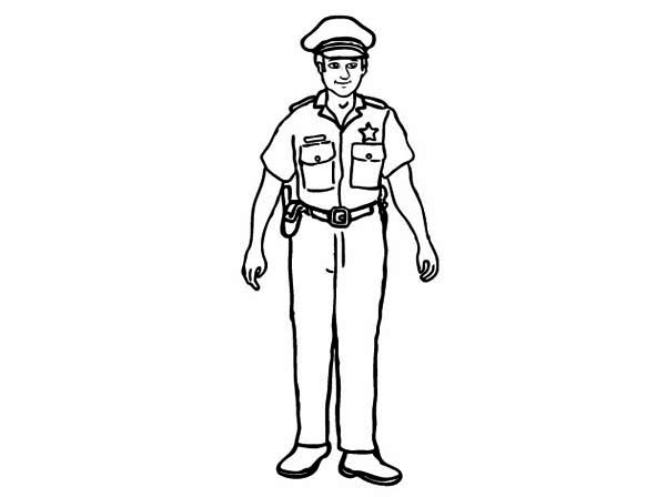 Free Policeman Clipart Black And White, Download Free Clip.