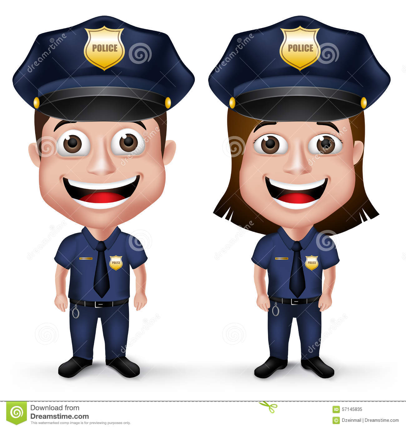 Policewoman Stock Illustrations.