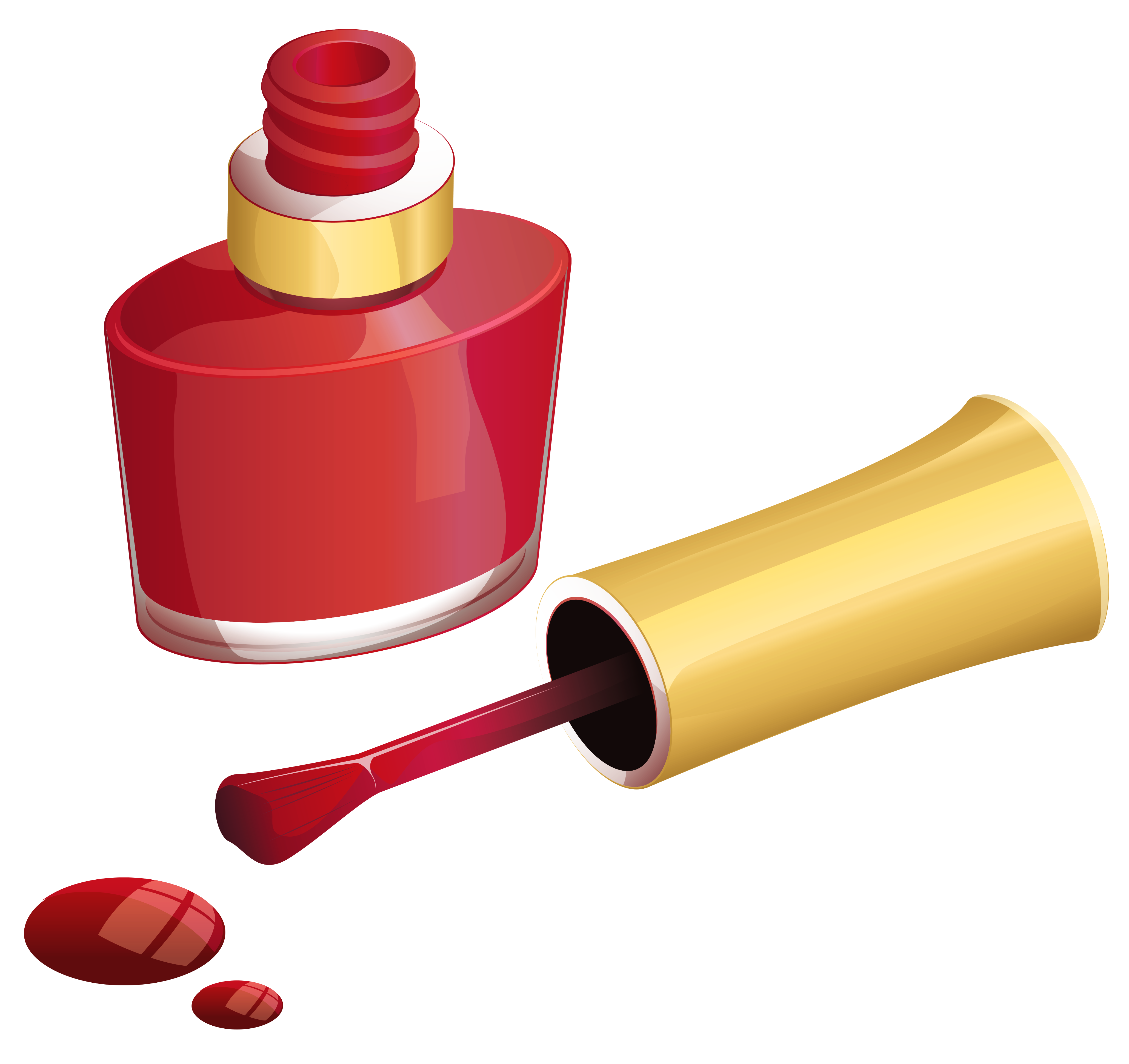 Red Nail Polish PNG Clipart Picture.
