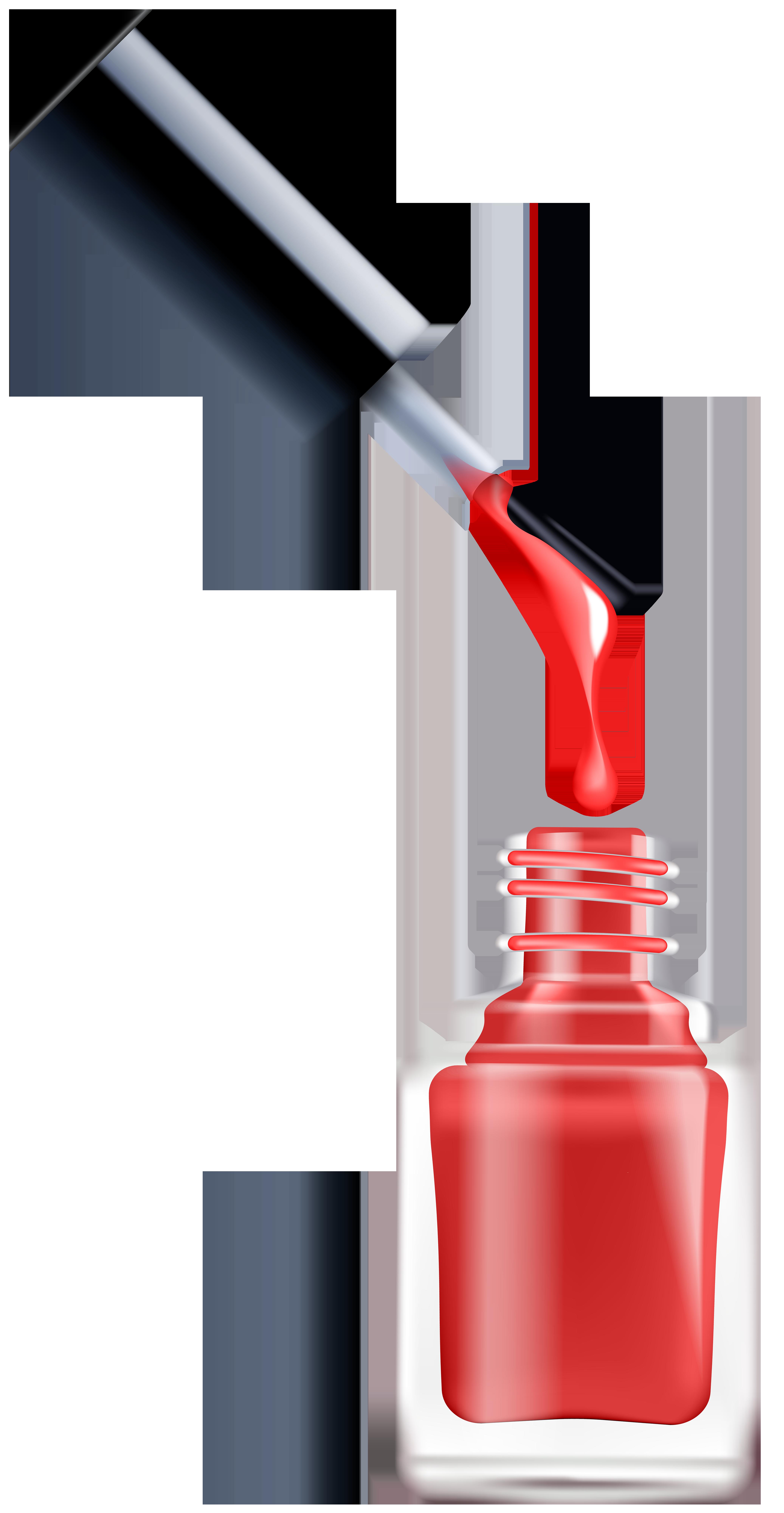 Nail Polish PNG Clip Art Image.