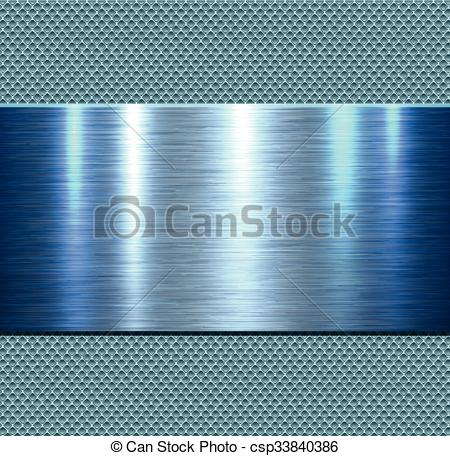 Vector of Background, polished metal blue texture, vector.
