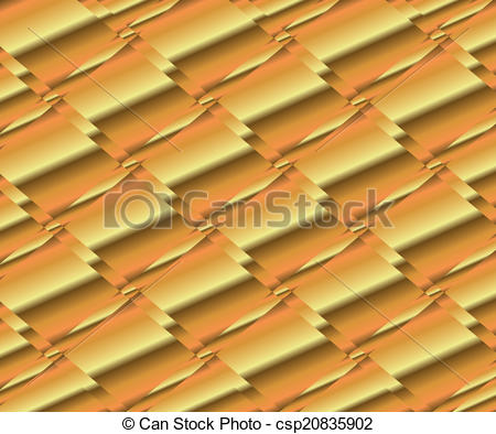 Vector Clipart of Gold polished metal, steel texture csp20835902.