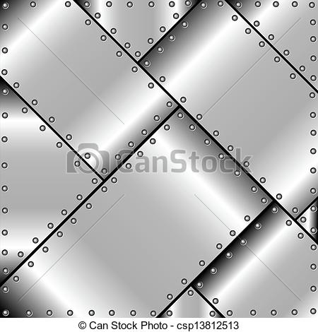 Vector Clip Art of Background of metal plates.