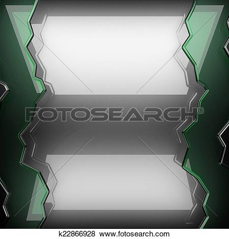 Stock Illustration of polished metal background with glass.