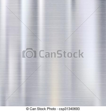 EPS Vectors of Polished metal background.