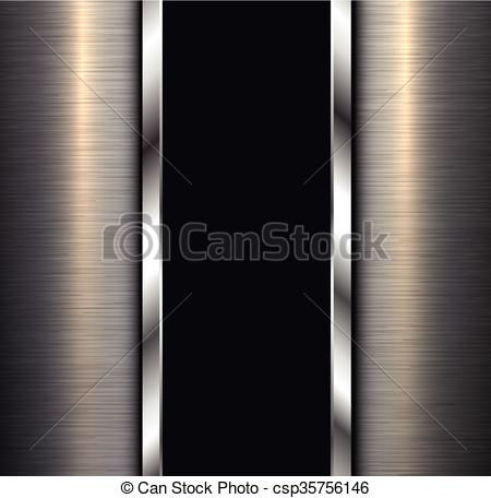 EPS Vector of Background polished metal.