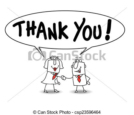 Clip Art Vector of Thank you very much.