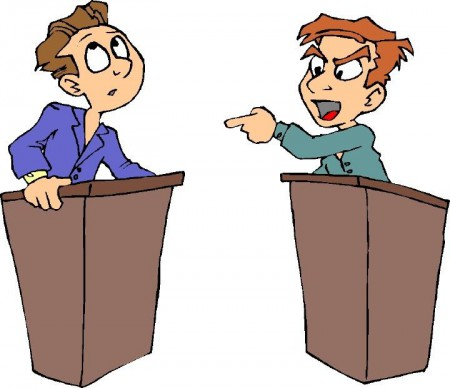 Political Debate Clipart.