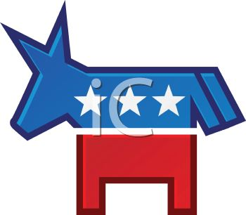 Royalty Free Clip Art Image: Political Party Symbol.
