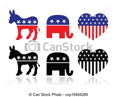 Free clipart logo for american political parties.