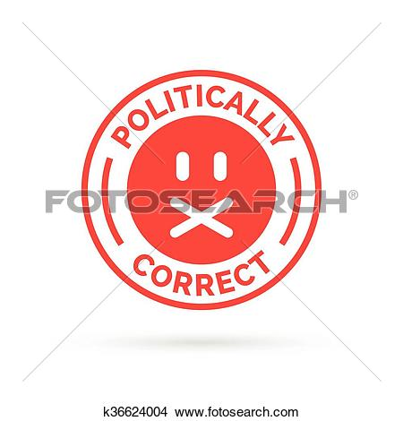 Clipart of Politically Correct icon. Political correctness symbol.