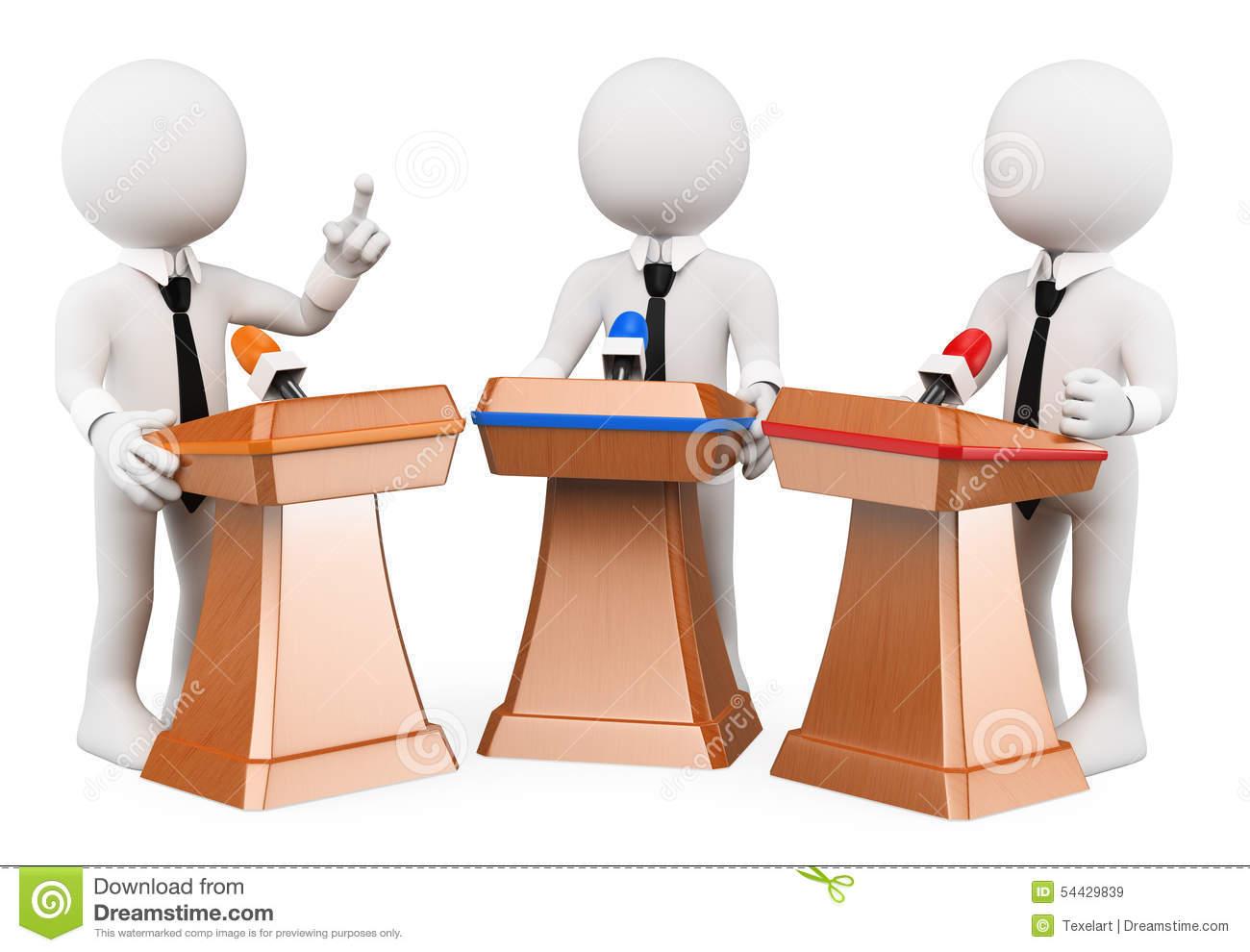 Political Debate Stock Vector.