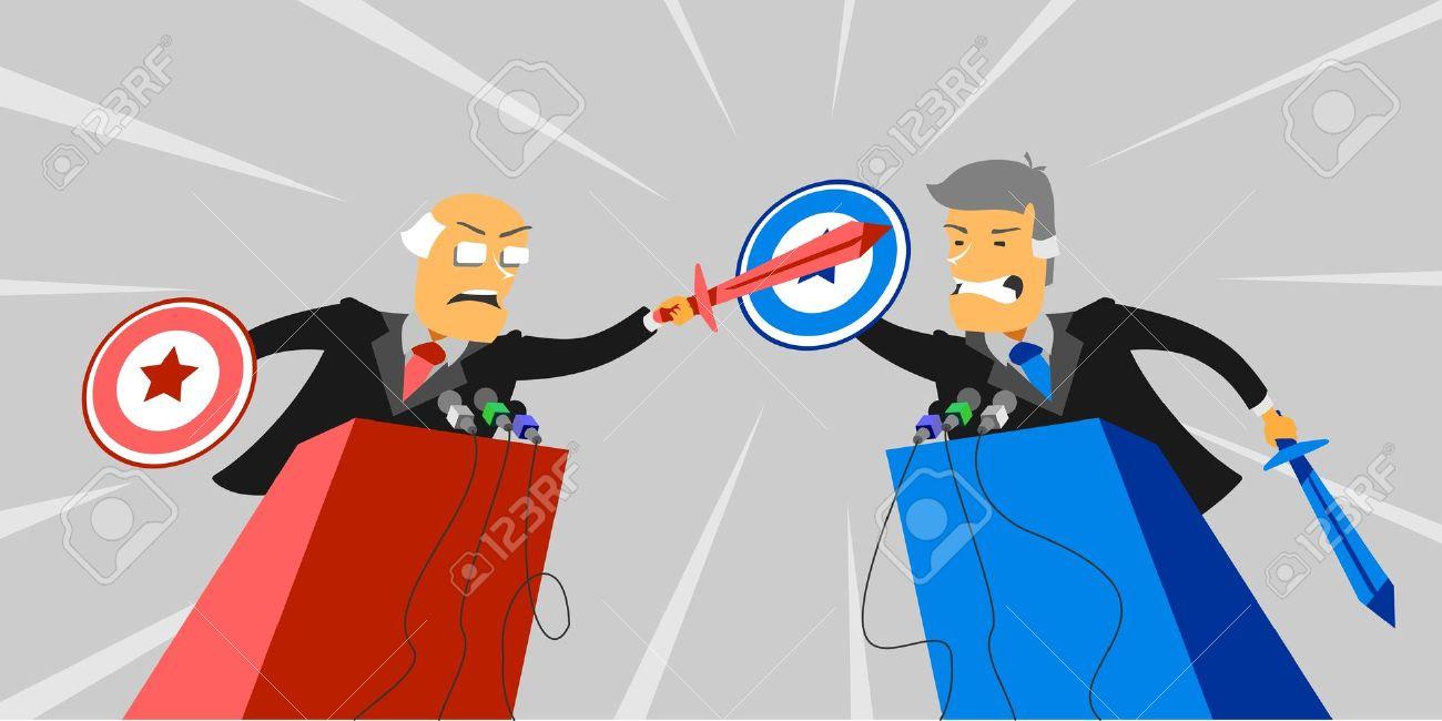 Dibattito Politico Clipart Royalty.