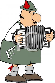 Polka Accordion Clipart.