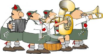 Polka Band Clipart.